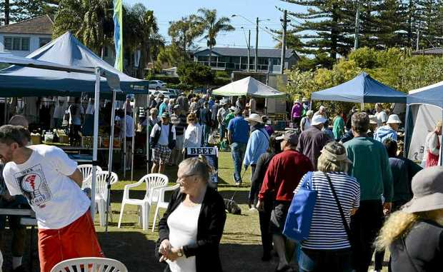 The popular Yamba Markets looks set to remain as a fundraiser for the Surfing the Coldstream Festival. Photo: Adam Hourigan