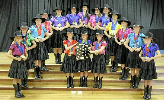 NATIONAL CHAMPS: The Lennox Beach Linedancers won Club of the Year at the national linedance championships at the Tamworth Country Music Festival last month.