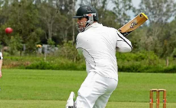 Dave Hobson batting was in form playing cricket at Kelsey Creek on Saturday.