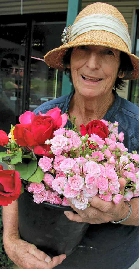Claire Cunningham with an array of flowers that would impress any girl this Valentine's Day.