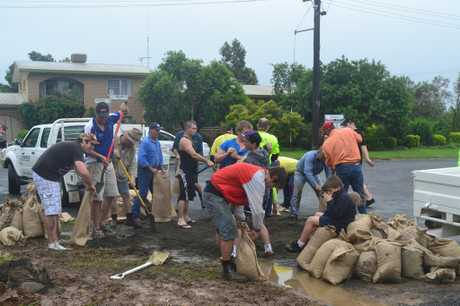 Thank you to all the volunteers who helped out sand bagging during the disaster.