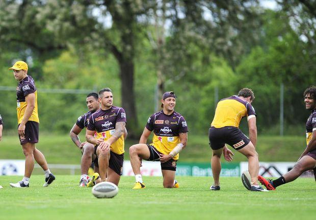Brisbane Broncos training at North Ipswich Reserve.