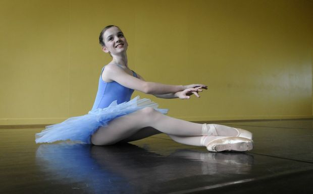 Ballerina Tabitha Buttsworth is working towards her goal of making ballet her career.