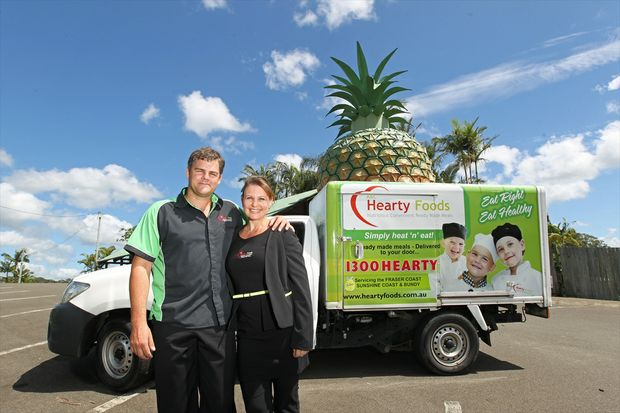 Alex and Chantal Fraser-Watson from A&C; Hearty Foods. They have just set up their business at the Big Pineapple after relocating from Hervey Bay.