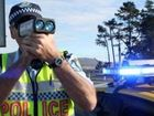 Holden Barina with no licence plate speeds away from police