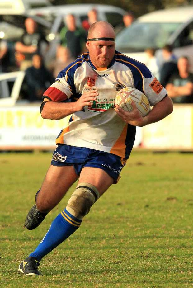 Action from the Murwillumbah Mustangs CRL game at Stan Secombe Oval Murwillumbah - Lionel Foster.