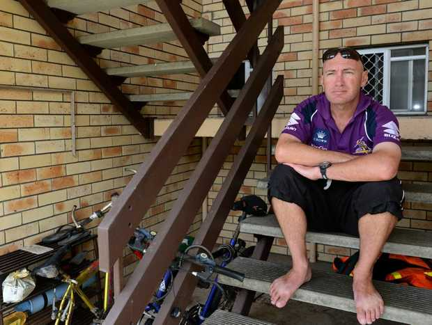 Denis Welsh had several pairs of shoes stolen from outside his Tweed Heads flat.