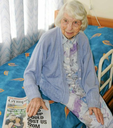 Still a keen reader of The Gympie Times, Eva Percival turns 100 today and will celebrate with family and a few friends at Gunable House.