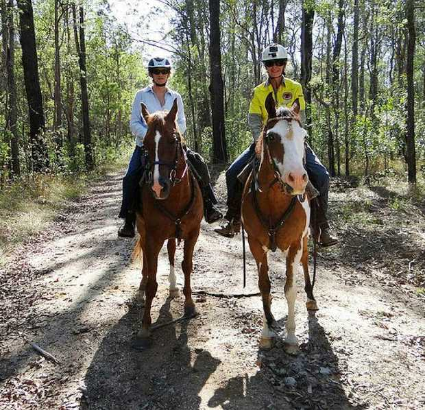 HAPPY TRAILS: Workshops in Alstonville identify trails in National Parks that could be upgraded for recreational horse riders.