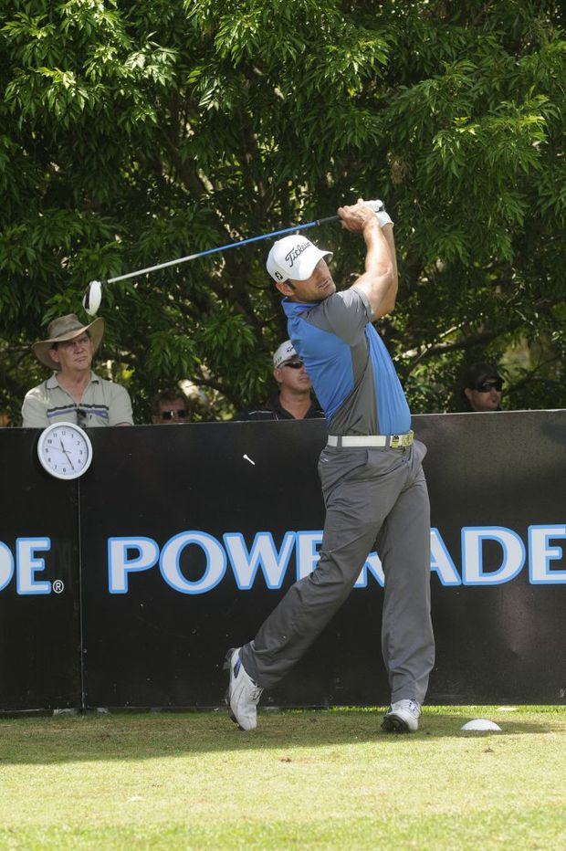 Michael Hendry is in strong contention Queensland PGA Championship honours during round three at City Golf Club.