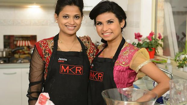 My Kitchen Rules spice girls Jessie Khan and Biswa Kamila Picture: 7 Channel