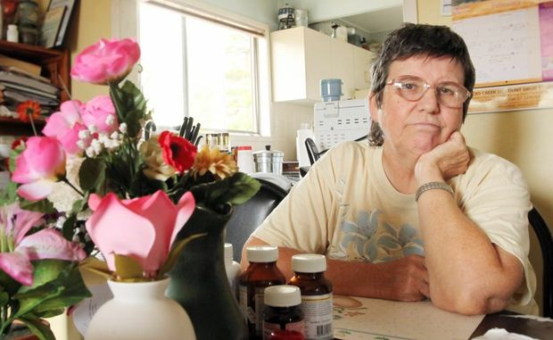 Cathy Cleland speaking about how the NDIS affects her. Photo: Inga Williams / The Reporter