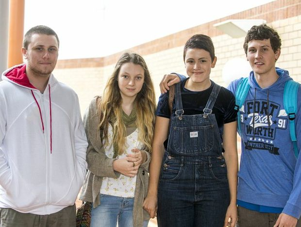 All smiles during O Week are (from left) Don Barham, Brittany Beautel, Emily Glover, Nic Angelosanto. Photo Contributed