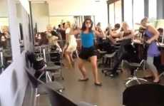 SQIT Tafe hairdressing students doing the Harlem Shake. Photo Contributed