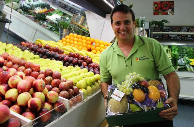 Alan Fenwick is proud to see how far Fenwick's Fruit Emporium has come over more than 20 years of business in Buderim Photo Emily Haynes / Buderim Chronicle