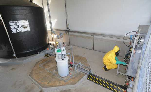 The fluoride compound at Burgowan Water Treatment Plant.