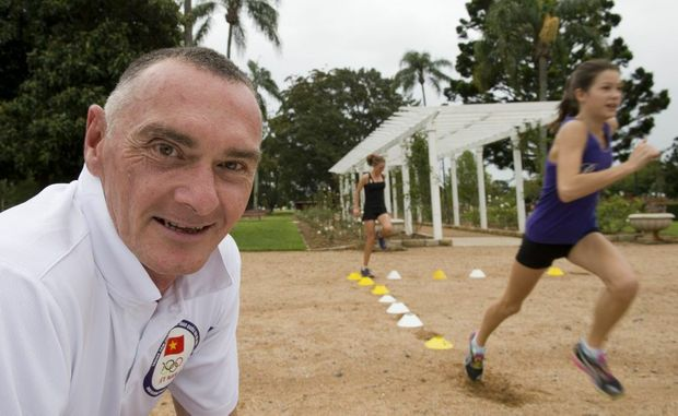 Gerrard Keating back training at Toowoomba's Newtown Park.