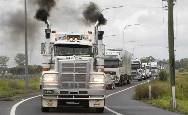 The annual Lights on the Hill convoy will roll into Gatton tomorrow to commemorate the lives of truck drivers lost on Queensland's roads.