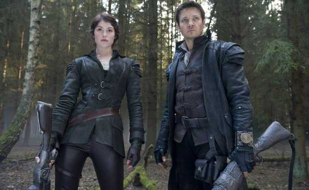FOR REVIEW AND PREVIEW PURPOSES ONLY. Gemma Arterton and Jeremy Renner in a scene from the movie Hansel and Gretel: Witch Hunters. Supplied by Image.net. Please credit photo to David Appleby.