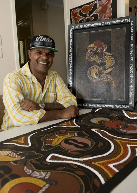 "Artist Gary ""Guloo"" Hopkins is passionate about inspiring the younger generation. His paintings have been sold locally and internationally."