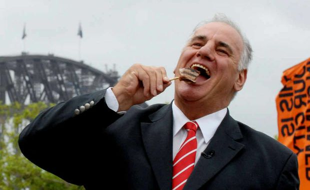 SAM'S HERE: Sam Kekovich will be involved in a Lambathon barbecue cook-off.