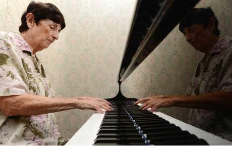 BLAST SURVIVOR: Pianist Kath McGrath is a survivor of the 1943 Goodna bomb blast at the former St Patrick's Convent School.