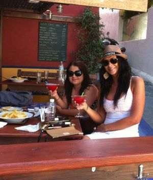 SISTERS TOGETHER: Shandee and Shannah Blackburn on holidays in the Greek Islands.
