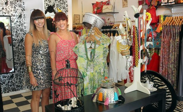 New owner of Josie Bird boutique on Brisbane Road at Mooloolaba, Tara Willersdorf (right), with former owner Jo Hall.
