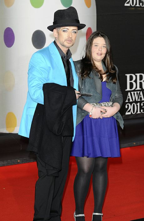 Boy George and his niece Molly at the BRIT Awards