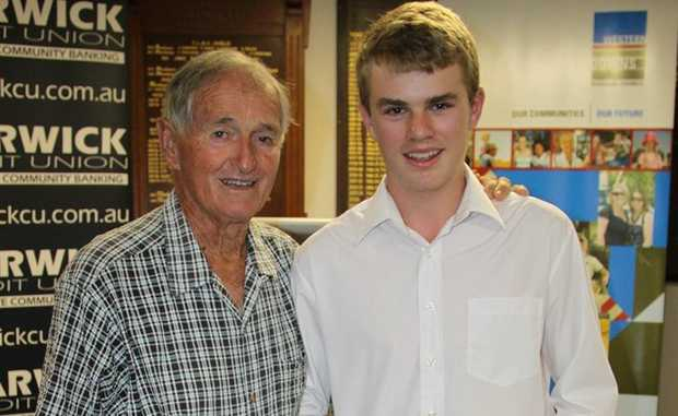 SPORTING STARS: Guest speaker Mal Anderson with the overall Warwick Sports Star of the Year, Lawry Flynn.