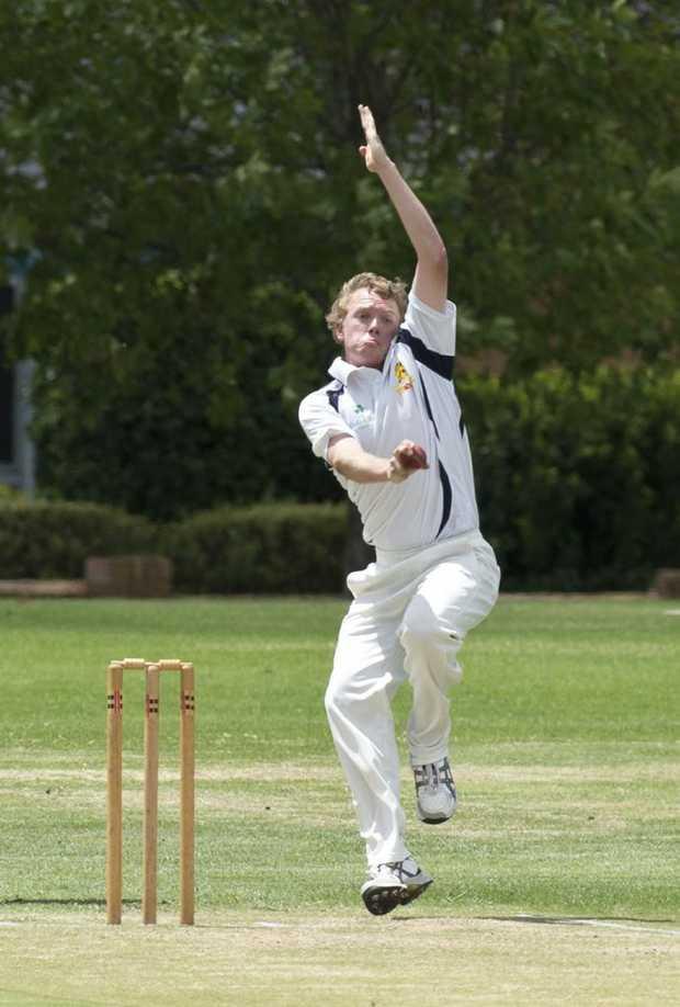 Matt Elford bowls for Metropolitan-Easts against Souths on Saturday.