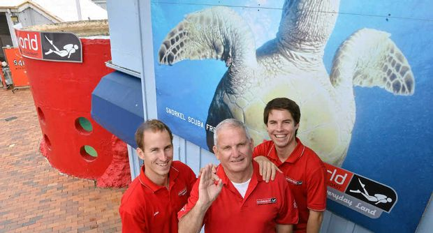 NEW REGIME: Ian McKinnon has handed over his diving business to his sons Michael (left) and Rob.