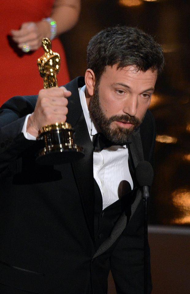 Argo director Ben Affleck accepts the Oscar for Best Movie onstage at the 85th Annual Academy Awards.