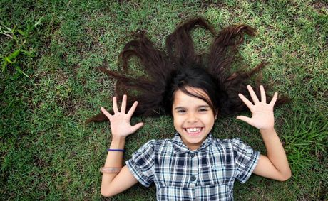 Nine-year-old Sharnae Short will be shaving off her hair to raise money for cancer. Photo: Inga Williams / The Reporter