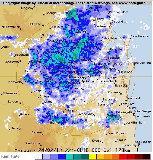 BOM radar as of 9am this morning.