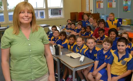 ON EXCHANGE: Tracie Hicks with her Grade 4 class.
