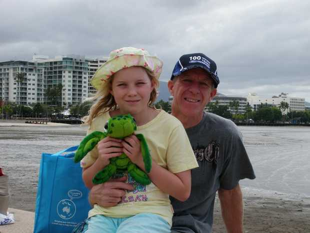 MEMORY: Hayley and her dad, Lee, in Cairns on their last holiday together in 2011.