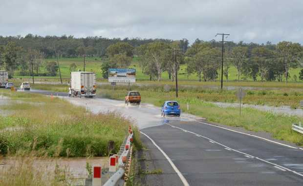 KEEP SAFE: Cars drive carefully over the D'Aguilar Hwy en route to Nanango.