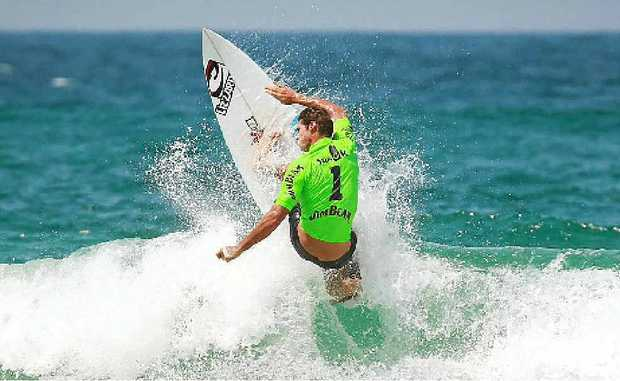 GLOBAL SURFTAG: Club champion Corey Ziems competing for Kirra during the Surf Tag series.