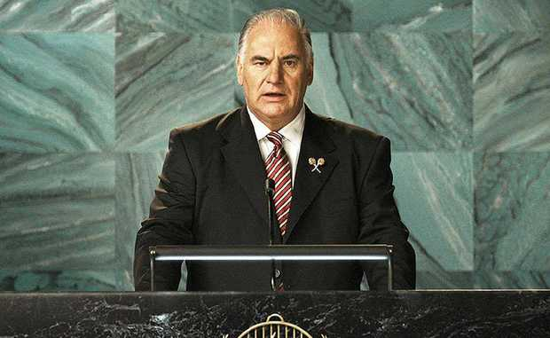 LAMBASSADOR: Sam Kekovich will be speaking at St Edmund's College on Saturday night.