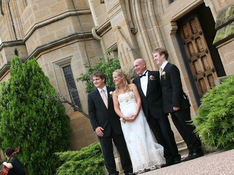 Owners Sonia Hunt and Mark Cains were wed at the Abbey of the Roses.