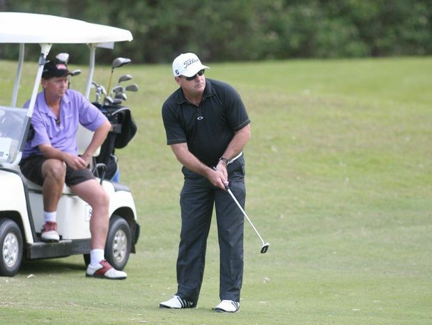 David Champman at the Pat O'Driscoll / Tropical Auto Group Pro Am at the Capricorn Resort Golf Course. Photo Chris Ison / The Morning Bulletin.