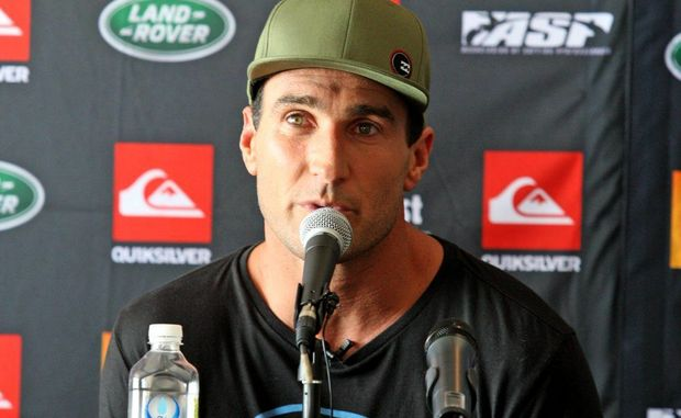 Quiksilver Pro 2013 press conference-Joel Parkinson.