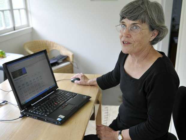 North Toowoomba resident Dr Tina Dalby marvels at her Telstra connection to the National Broadband Network.