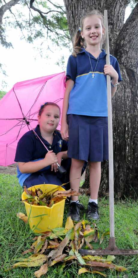 Amelia and Lillianne Chambers are hoping for a fine autumn.