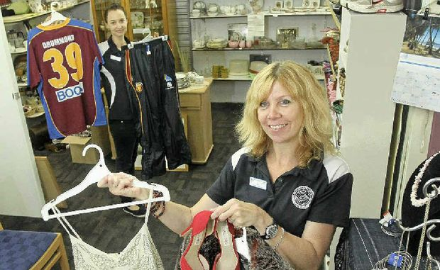St Vincent de Paul multi-store manager Clare Watson (left) and retail area co-ordinator Dee Ball in their Maroochydore store.