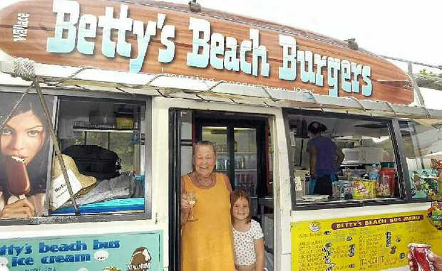 Betty Wallace of Betty's Beach Burgers.