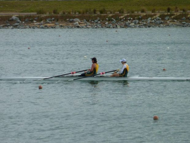 Rowers practise for tgis weekend's regatta.