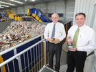 Cleanaway general manager Neil Perry with Mayor Gerard O'Connell at the Fraser Coast Materials Recovery Facility opening at Dundowran.