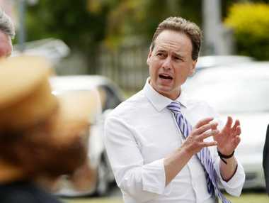 The Shadow Federal Minister for Environment Greg Hunt MP, at Fraser Park, Golden Beach.